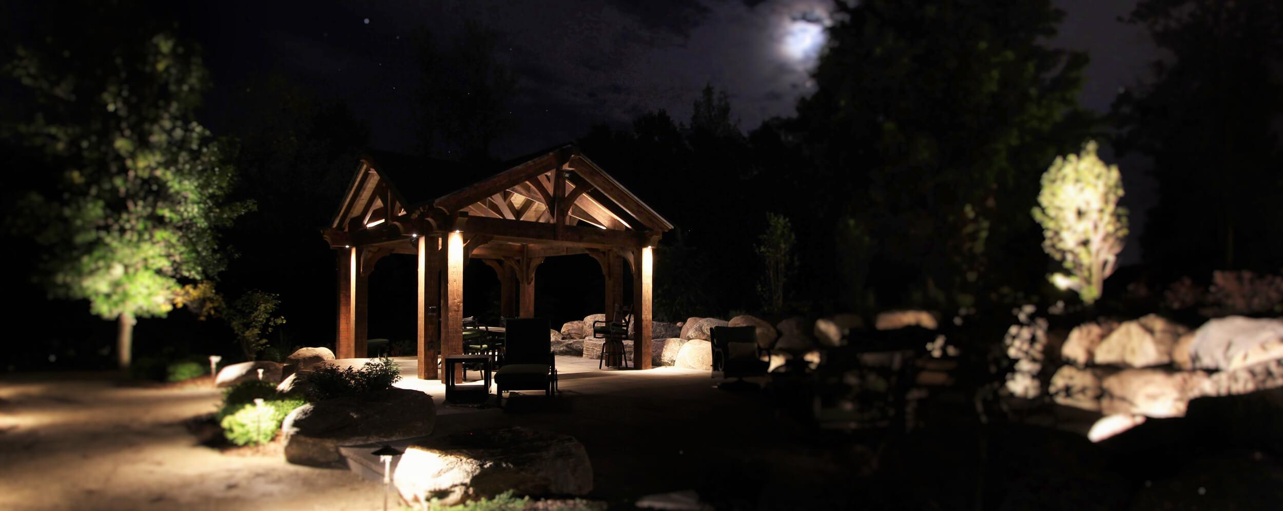 Outdoor Landscape Lighting Project