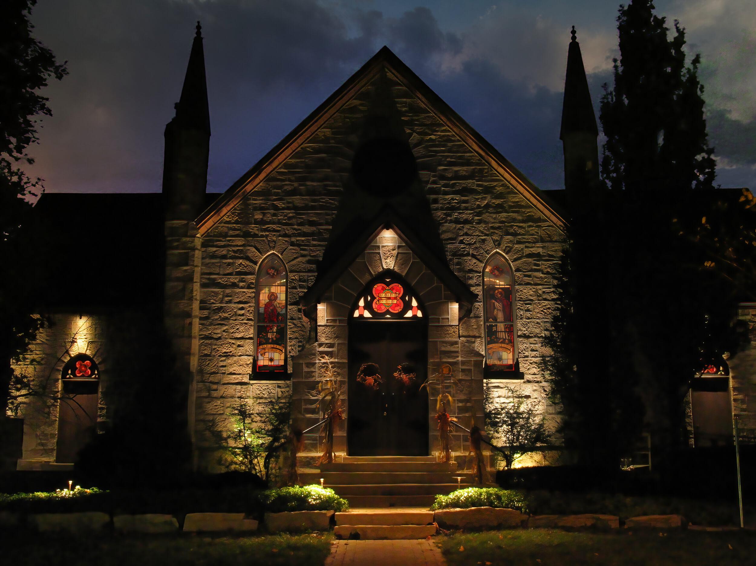 Freelton church graze downlighting gothic