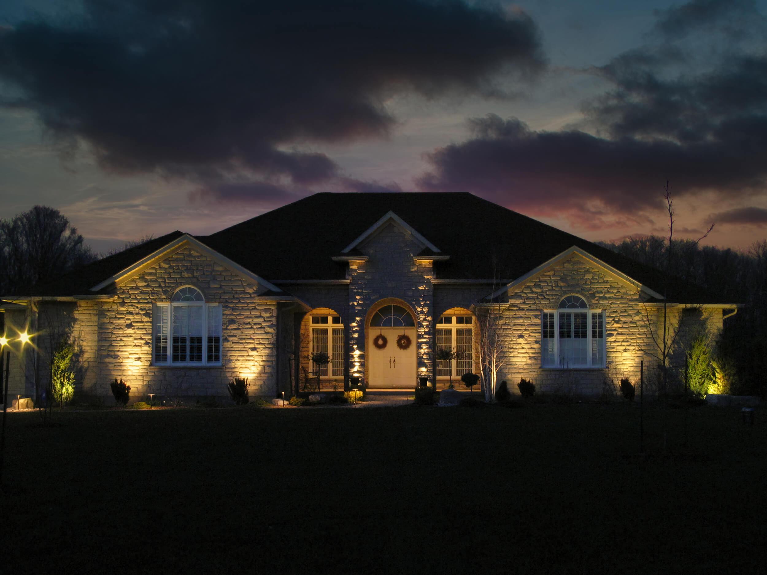 Puslinch stonewall graze lighting