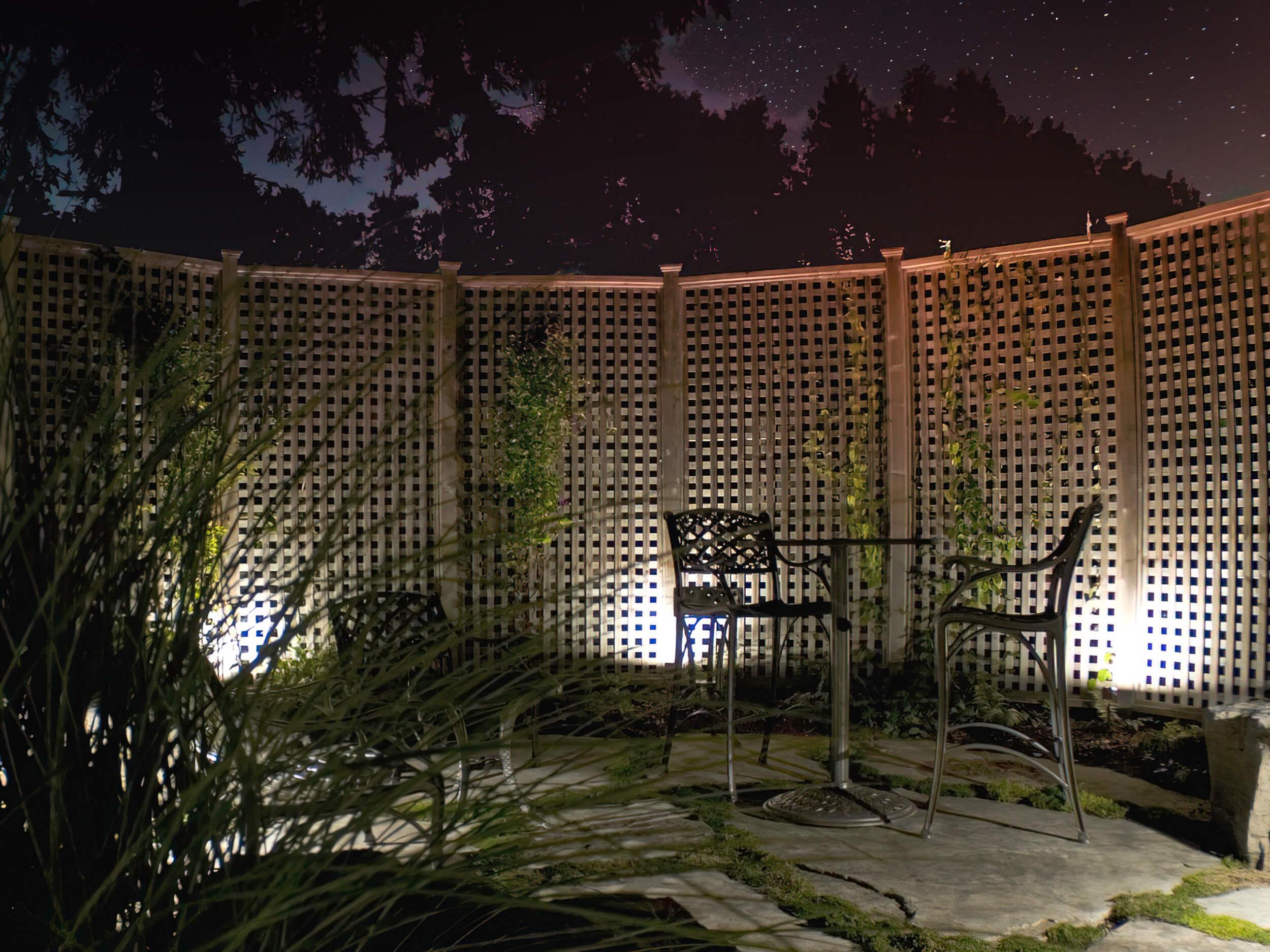 Screen graze lighting in Guelph Ontario