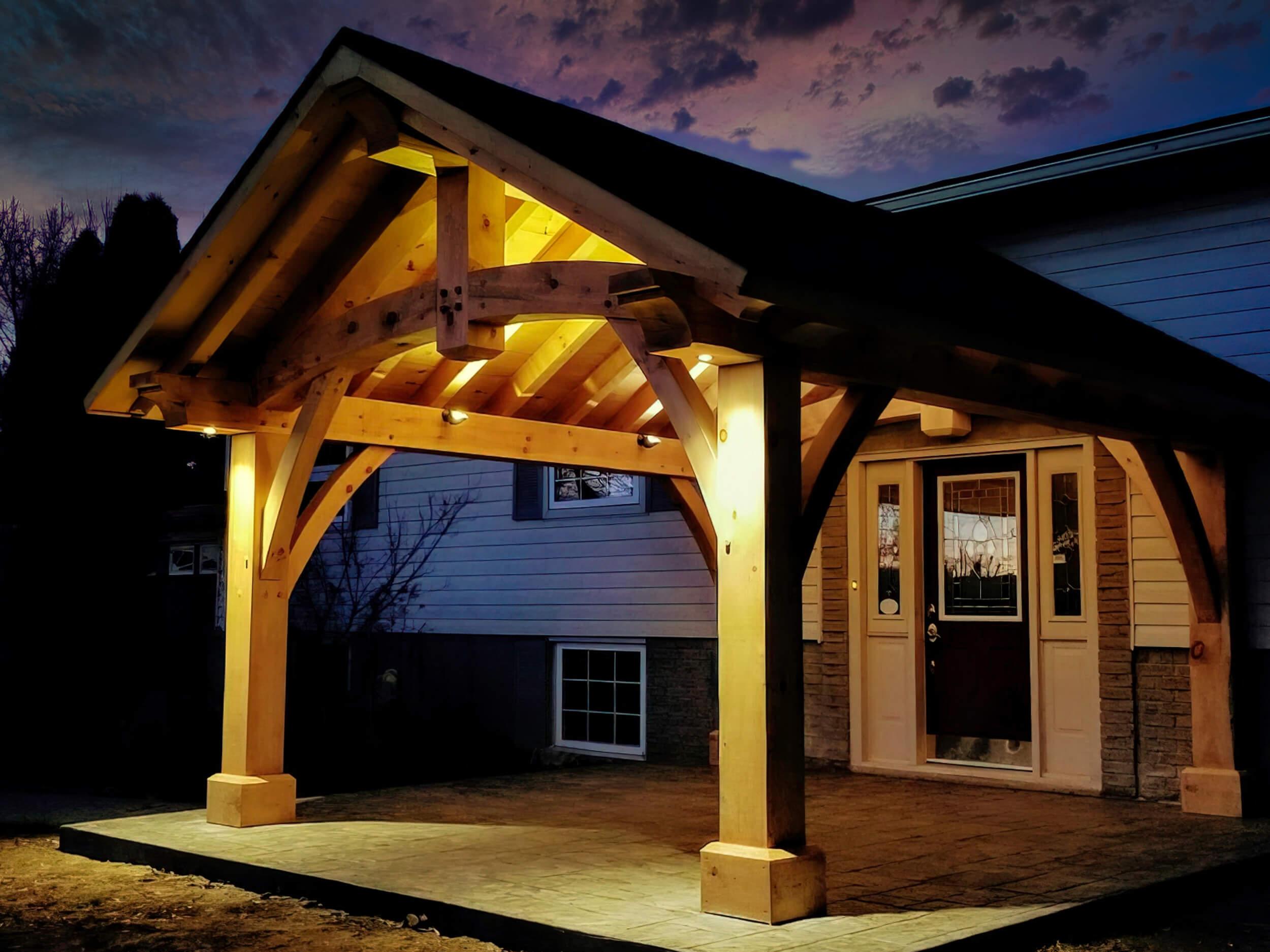 Timber frame highlight in Killbride Ontario